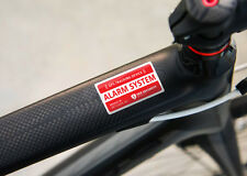 BICYCLE SECURITY STICKER - Alarm GPS Tracking System Anti Theft Warning Decal