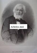 Portrait de CHARLES FRANCOIS NANTEUIL François  Lithographie c1870