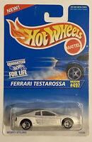 1997 Hotwheels Ferrari Testarossa White Corgi Long Card! Very Rare! Mint! MOC!