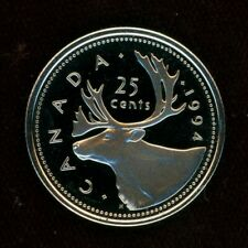 1994 Canada 25 cents Proof Quarter from Mint Set Nice Cameo