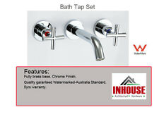 Bath Tap Set - CROSS HANDLE