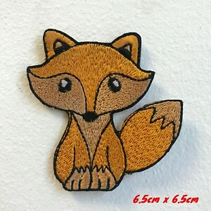Cute Little Fox Animal Badge Embroidered Iron on Sew on Patch