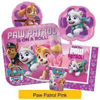 PAW PATROL Pink (Girls) Birthday Party Range - Tableware Balloons & Decorations