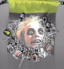 BEETLEJUICE Inspired Charm Bracelet Loaded Altered Art---Gift Bag  Tim Burton
