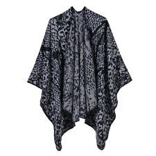 Cashmere Like Poncho Blanket Wrap Shawl Cape Scarf Snake Leopard Plus Size Chic