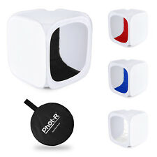 Phot-R Photo Studio Light Tent Soft Box Cube 80x80x80cm + 4 Coloured Backdrops