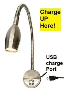 USB Lecanto LED Reading Light for household use - wall mount or headboard mount