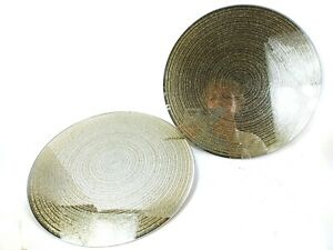 1x Mirrored Plate 30cm Round Placemat or display/Candle Plate Glitter Swirl Gold