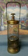 Lantern Style Vintage Musical Decanter Brass and Glass