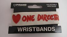 I Love One Direction White Rubber Braccialetto NUOVO FREEPOST
