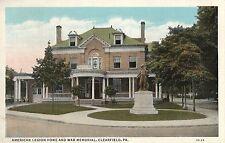 American Legion Home & War Memorial in Clearfield PA 1938