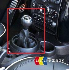 Nuevo Mini Cooper Genuino R60 R61 JCW Shift perilla de 6 velocidades con plata bota de cuero