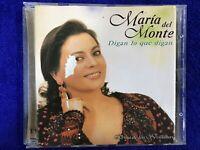 MARIA DEL MONTE CD DIGAN LO QUE DIGAN