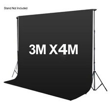 Photography 3*4m Muslin Cotton Chromakey Backdrop Studio Fabric Background BLACK