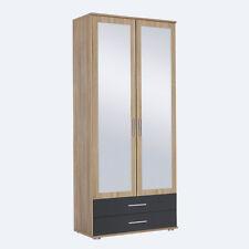 Kleiderschrank Rasant-Extra Schrank 2-türig Eiche Sonoma grau mit Spiegel 85 cm