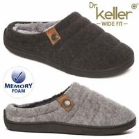 MENS SLIPPERS SLIP ON FAUX SHEEPSKIN FUR WARM FLEECE LINE CLOG WIDE FIT SHOES