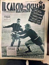 Il calcio e il ciclismo illustrato 1957 N° 4 LANEROSSI-GENOA,SPAL-MILAN 23/6