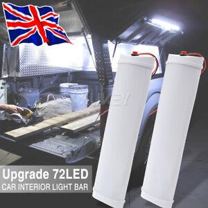 12V 72 LED ON/OFF Switch Interior Light Strip Bar 12 VOLT Car Caravan Van Bus
