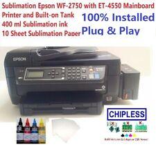 Sublimation Epson WF-2750 / ET-4550 Mainboard Printer Built-on Tank ink, 10 Pape
