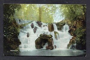 View of the Waterfall, Virginia Water. Stamp/Postmark - 1908.