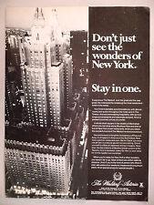 Waldorf-Astoria Hotel Printanzeige - 1980 ~~ Park Avenue, New York City