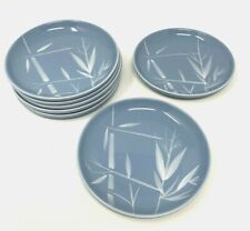"""SET of 7 Winfield China California Blue Pacific 5.5"""" Bread Plates Bamboo"""