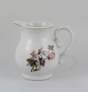 Cremera Milk Of Porcelain With Decoration Floral Pink. Stoneware Spain Vintage
