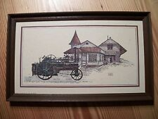 Rare & Vintage Prints (Trains) By A. Gruerio. Framed  15x9