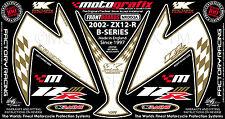 Kawasaki Ninja ZX12R 2002 - Motografix Front Fairing Number Board Gel Protector