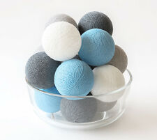 20 LOOSE COTTON BALLS NOT INCLUDE LIGHT STRING, Wedding - Blue Beach Cottage