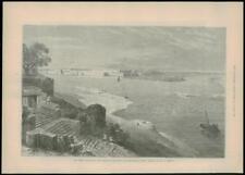 1887 Antiguo Print-India Allahabad Yamuna recorrió Ganges Río Fuerte (273)