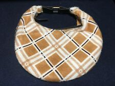 New Caterina Lucchi Anthropologie Check Pony Hide leather handbag Clutch Hobo