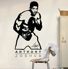 Vinyl Wall Decal Sticker Anthony Joshua Poster BoxerBoxing  Wall Art Decor Mural