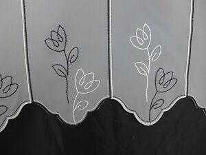 Scheibengardine nach Maß Gardine Bistrogardine 660 62 cm hoch Blume modern