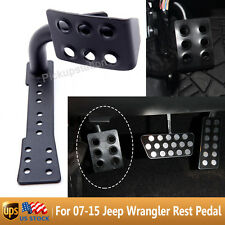 Black Metal Dead Pedal Left Side Foot Rest Kick Panel 07-15 Jeep Wrangler JK New