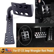 Black Metal Dead Pedal Left Side Foot Rest Kick Panel 07-15 Jeep Wrangler JK New