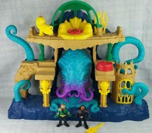 Imaginext dc super friends AQUAMAN & BLACK MANTA OCEAN PLAYSET & Action  Figures
