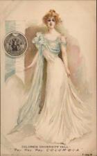 Columbia College Girl Rotograph Postcard Vintage Post Card