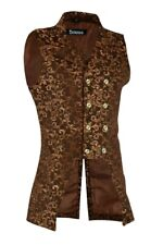 Men's Gold Double Breasted GOVERNOR Vest Waistcoat VTG Brocade Gothic Steampunk