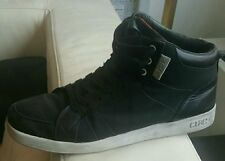 CLAE Russell Black Canvas Leather Sneakers High-Tops Solid size 12