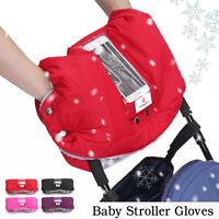Waterproof Baby Stroller Pram Gloves Pushchair+Pocket For TouchScreen    1    AU