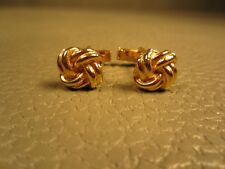 Contemporary Love Knot Yellow Gold Plated Cuff Links