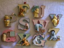 WINNIE the POOH Wall/Shelf ALPHABET LETTERS....New Items...Limited Stock
