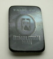 Warner Brothers Demolition Man Stallone Movie Promo Button Pin New NOS 1993