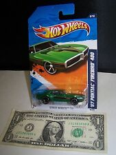 Hot Wheels Green '67 Pontiac Firebird 400 #6 Street Beasts #86 2011 Black Spokes