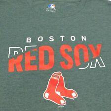 BOSTON RED SOX T-Shirt Heathered Gray MLB Baseball Adult XL