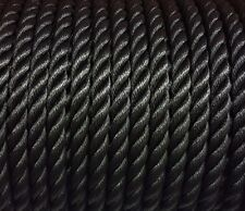 3 Strand  FLOATING MOORING ROPE BOAT YACHT GARDEN DESIGNER DECORATIVE Black