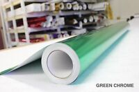 Green Chrome Vinyl Roll 5ft x 48ft Bubble-Free Wrap for Car Bike Boat Trailer