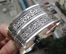 Armreif Armband Tibetsilber Silber Armschmuck Trachten 2,8cm Armspange verstellb