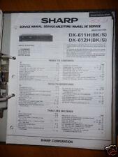 Manuel de service pour Sharp dx-611h / 612 Lecteur CD, original